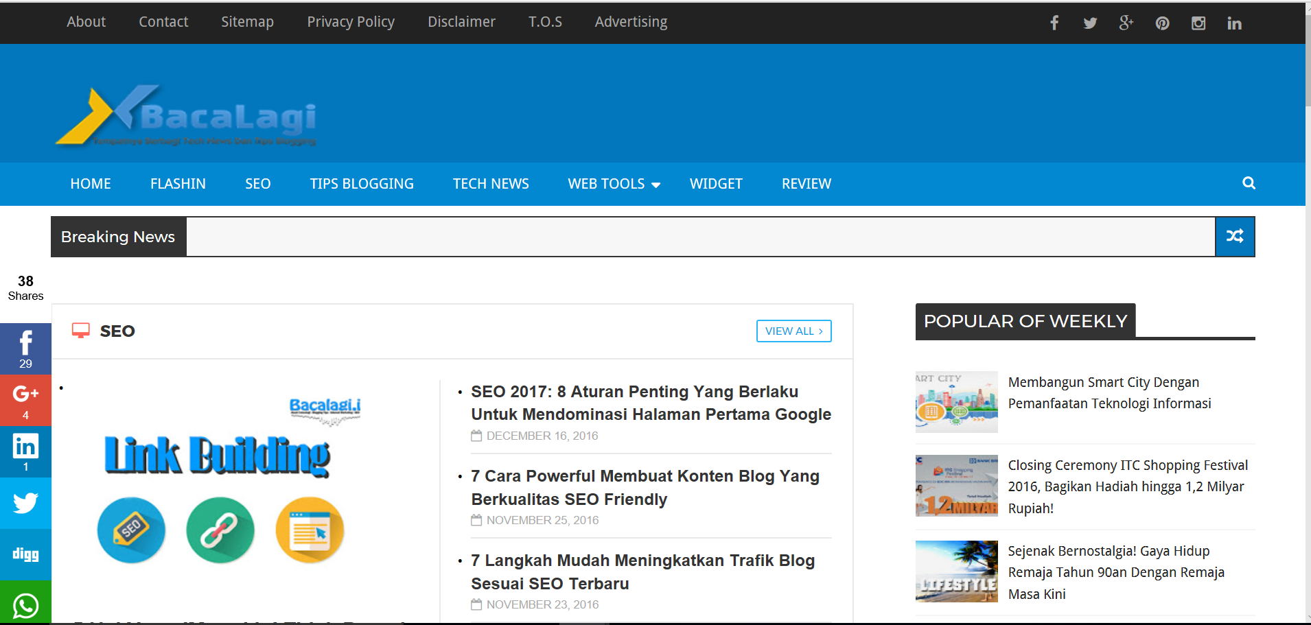 Bacalagi.id – Blogging, SEO, Internet Marketing, Teknologi and Kesehat