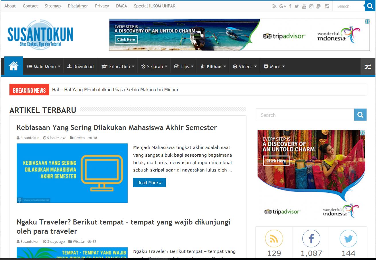 Susantokun | Situs Edukasi, Tips dan Tutorial