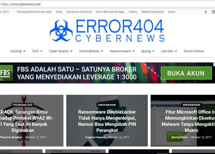 Error 404 Cyber News