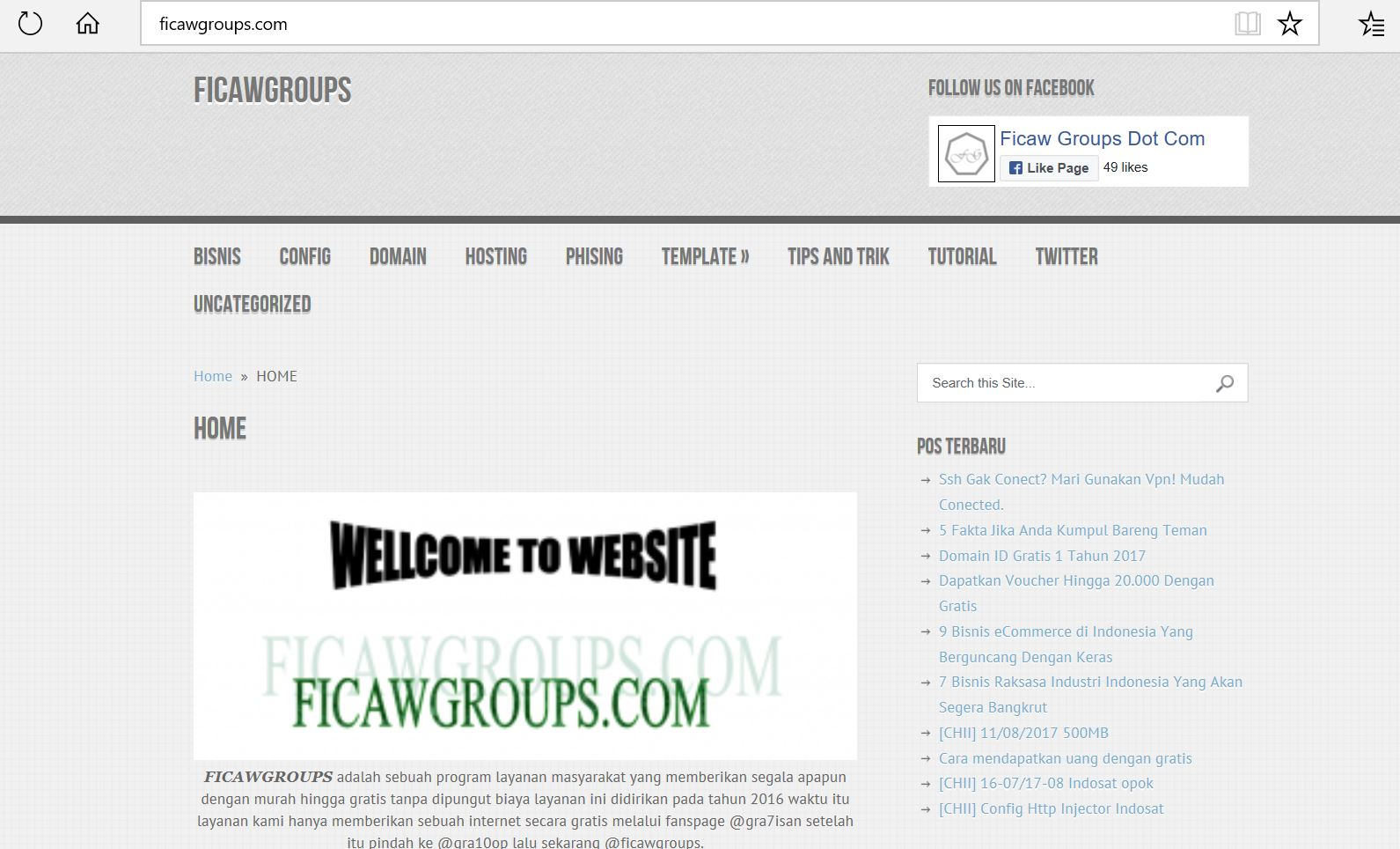 Ficaw Groups | Website serba gratis