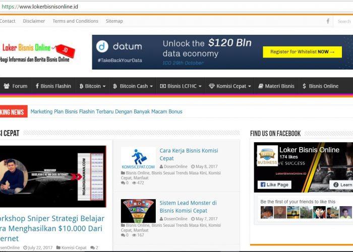 Loker Bisnis Online Terbaru