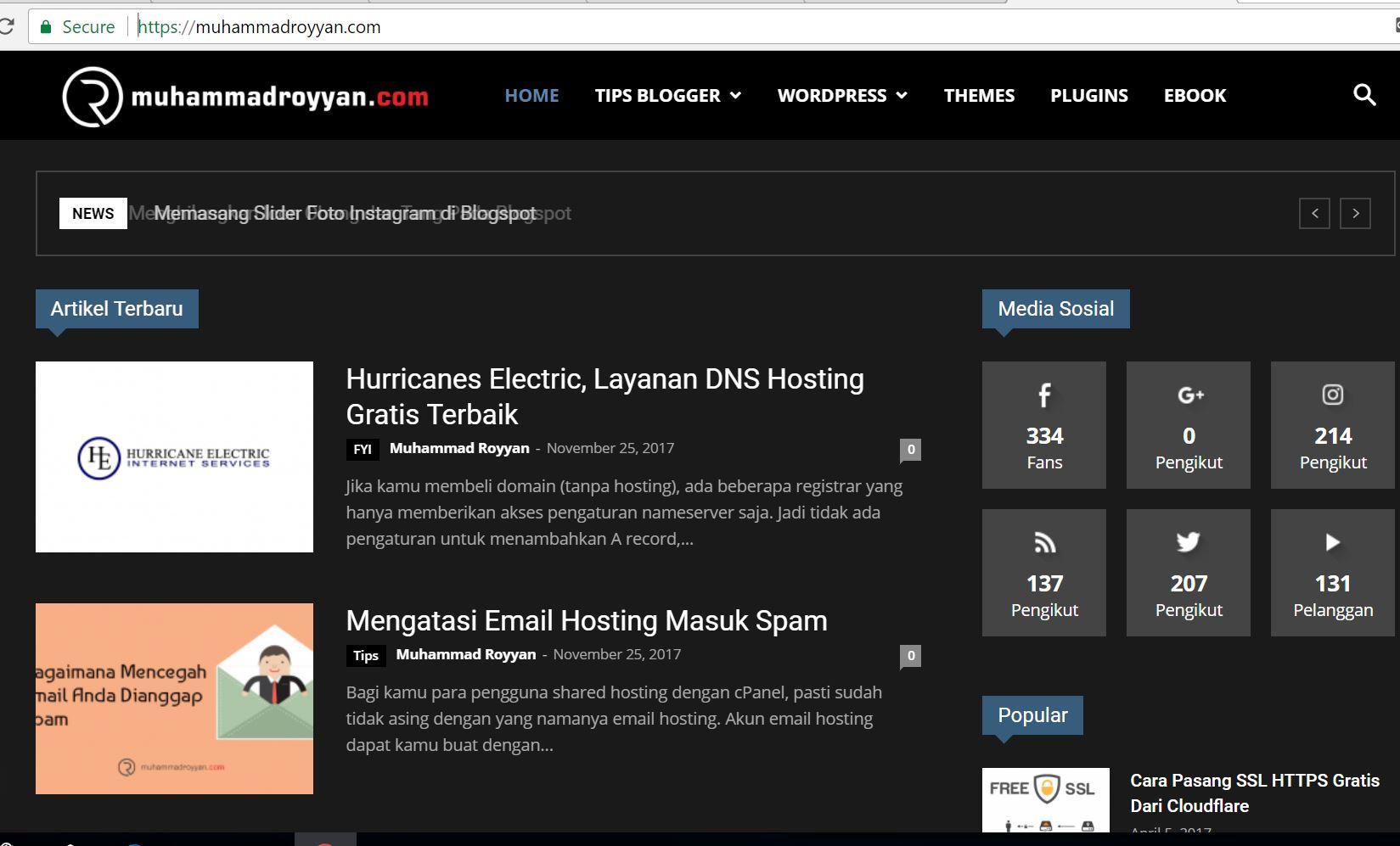 Royyan Blog | Tutorial Blogspot dan WordPress