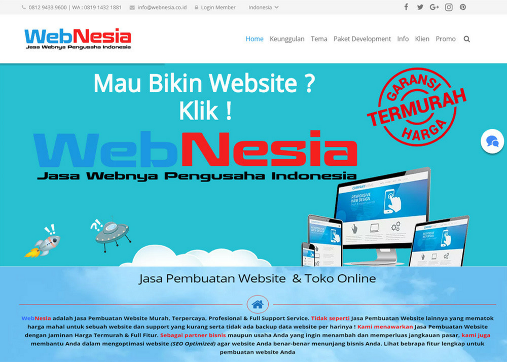 WebNesia – Jasa Webnya Pengusaha Indonesia