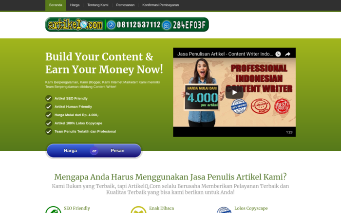 Indonesian Content Writer Service