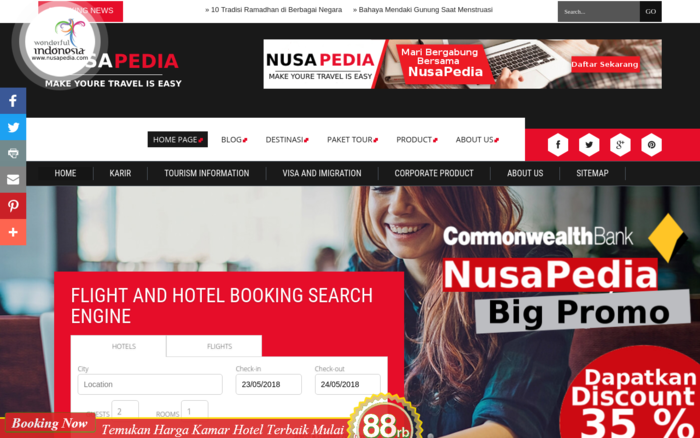 NusaPedia – Flight And Hotel Search Engine