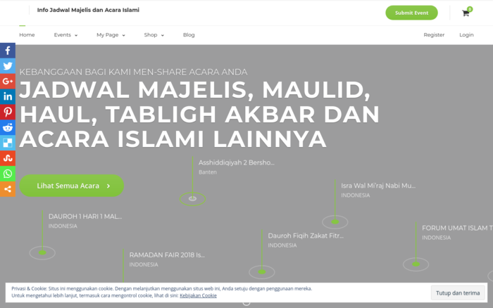Info Jadwal Majelis and event islami